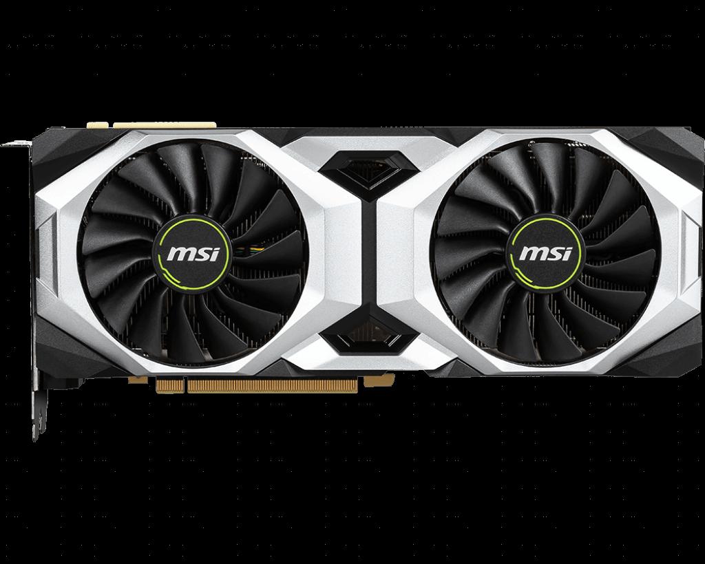 Placa de Vídeo MSI Geforce RTX 2080 Ventus OC 8GB GDDR6 PCI-E