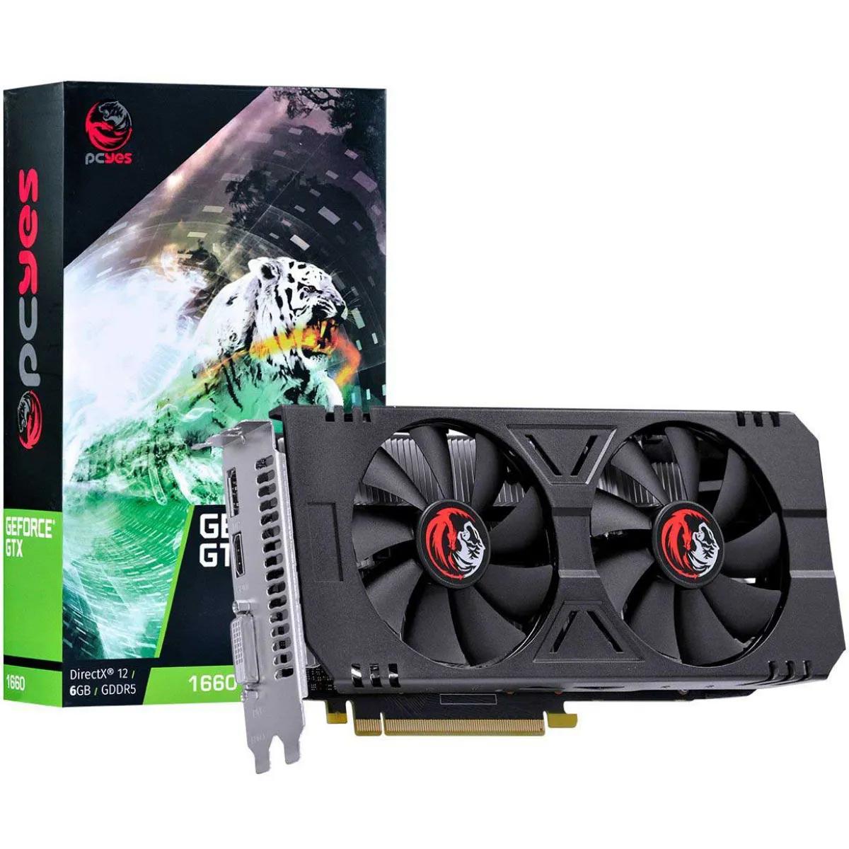 Placa de Vídeo PcYes GeForce GTX 1660 Dual 6GB GDDR5 192Bit PA166019206G5