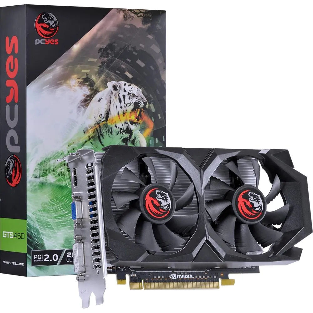 Placa de Vídeo PcYes Nvidia GeForce GTS 450 2GB GDDR5