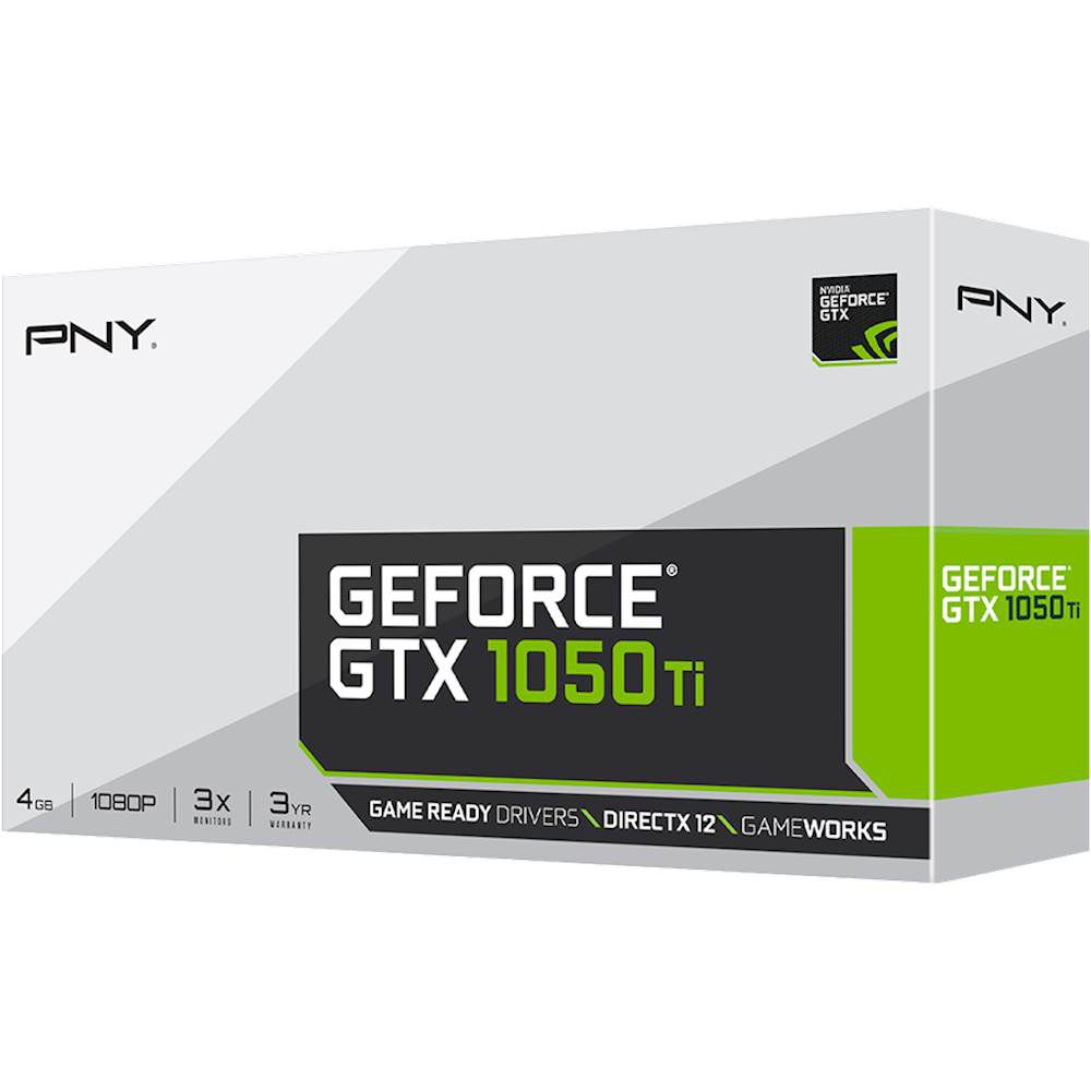 PLACA DE VÍDEO PNY GEFORCE GTX 1050 TI 4GB GDDR5 128BIT, VCGGTX1050T4PB