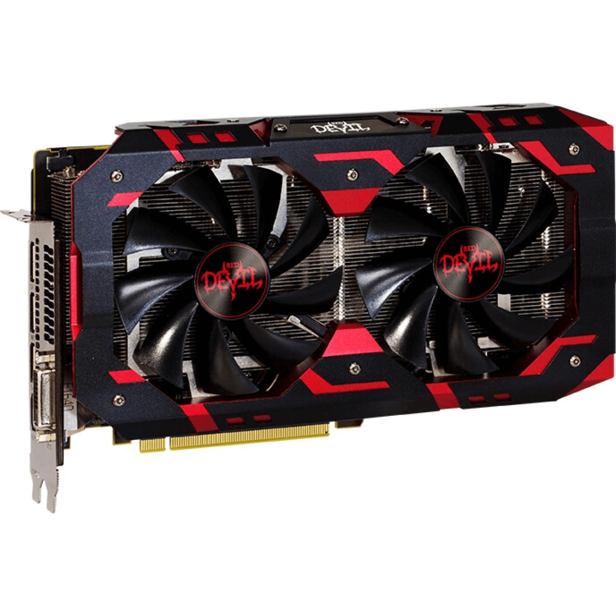 Placa de Vídeo PowerColor Radeon RX 580 Red Devil Dual 8GB GDDR5 256Bit AXRX 580 8GBD5-3DH/OC