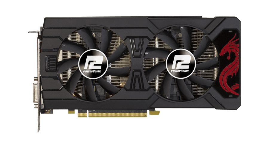 Placa de Vídeo Radeon PowerColor RX 570 4GB GDDR5 AXRX 570 4GBD5-3DHDV2/OC