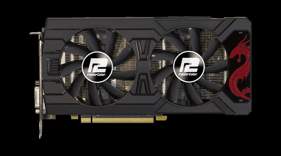 Placa de Vídeo Radeon PowerColor RX 570 4GB GDDR5 AXRX 570 4GBD5-3DHDV2/OC