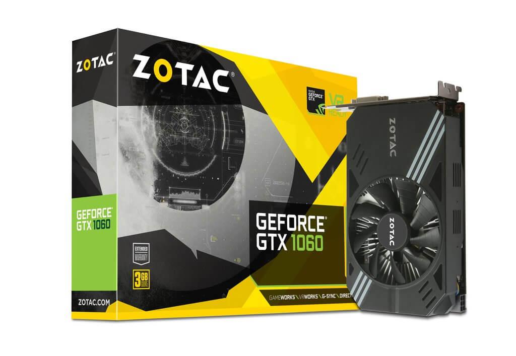 Placa de Video Zotac Nvidia GTX 1060 3GB Mini ZT-P10610A-10L