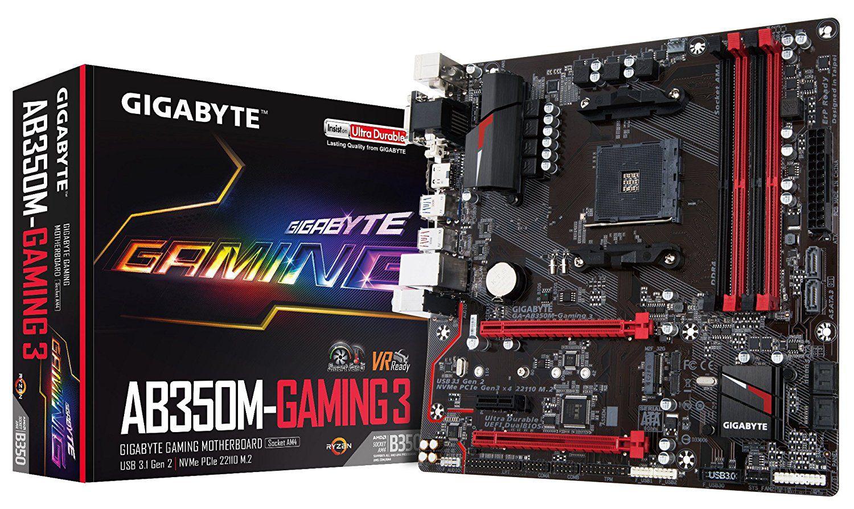 Placa Mãe Gigabyte Ga ab350m gaming 3  AM4 Micro Atx