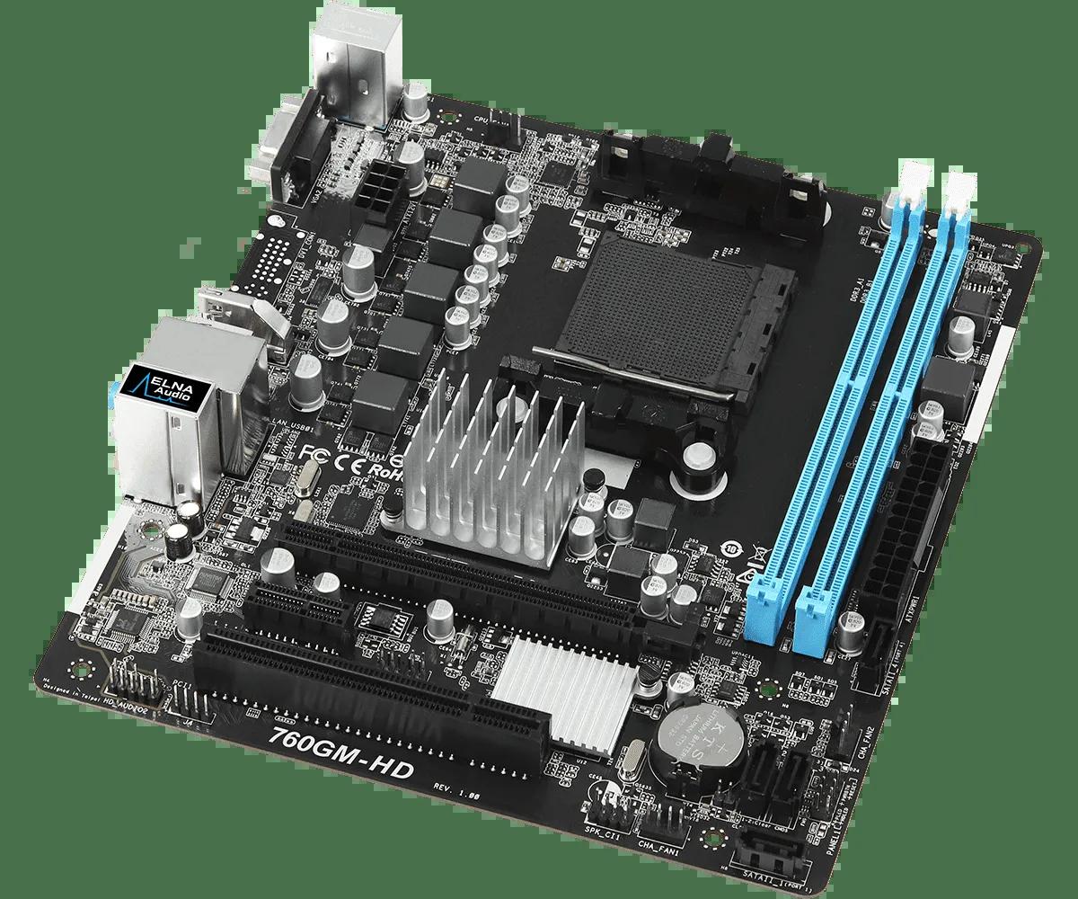 Placa mãe Asrock AM3+ AMD 760GM-HD DDR3 HDMI