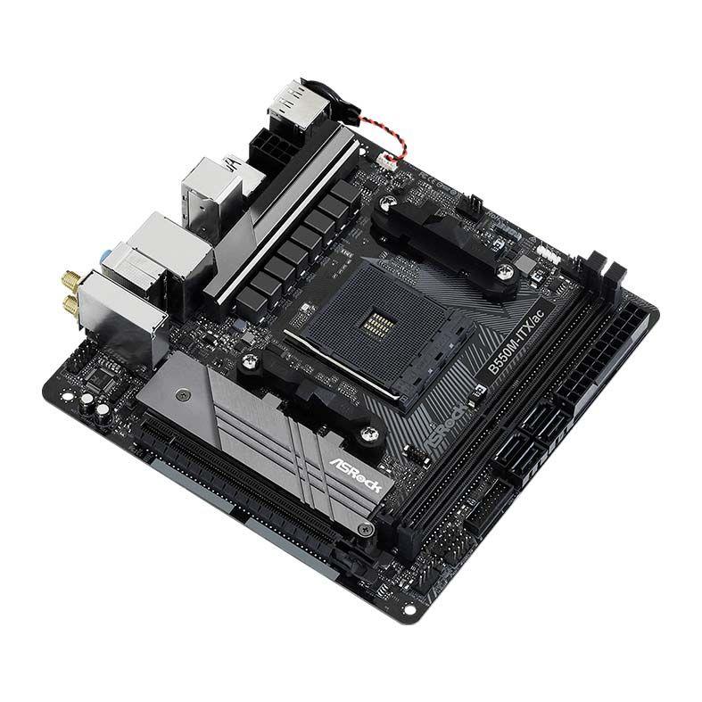 Placa Mãe ASRock B550M-ITX/AC DDR4 AM4 Chipset AMD B550 ITX