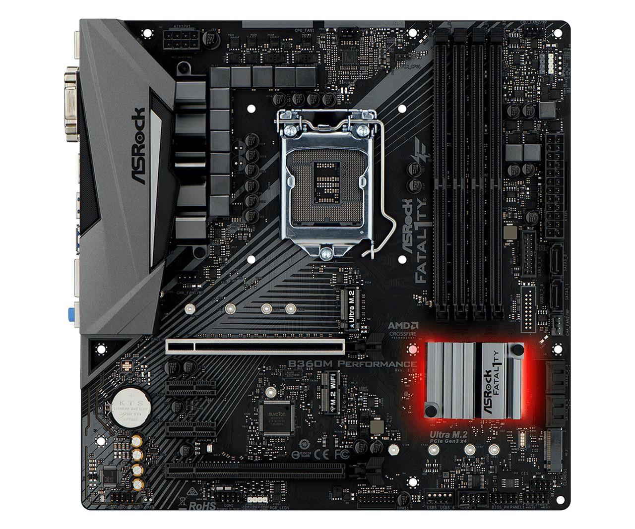 Placa Mãe ASROCK FATAL1TY B360M Performance DDR4 LGA 1151