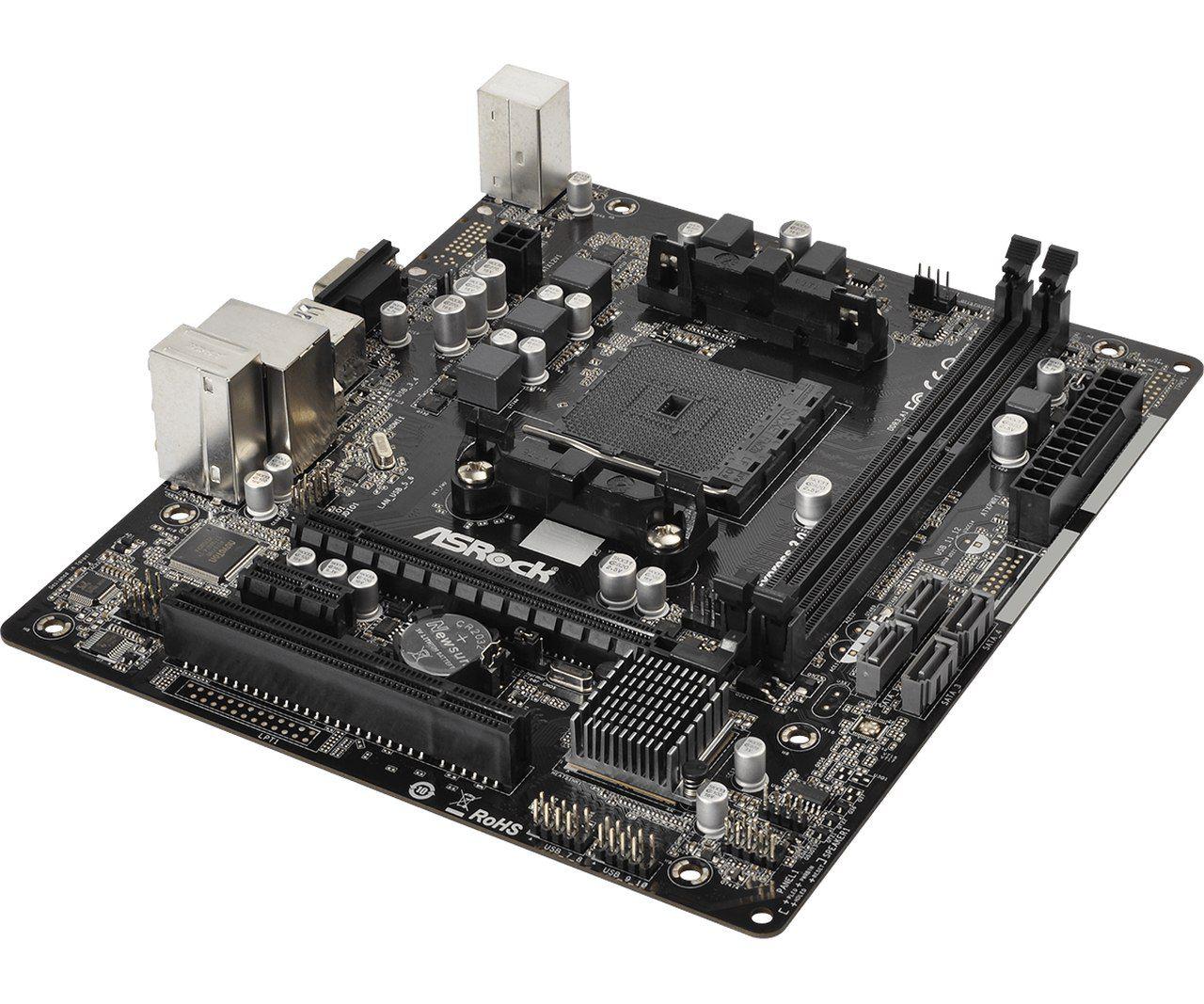 Placa Mãe ASRock FM2A68M-HD+ DDR3 Chipset AMD A68H FM2 FM2+
