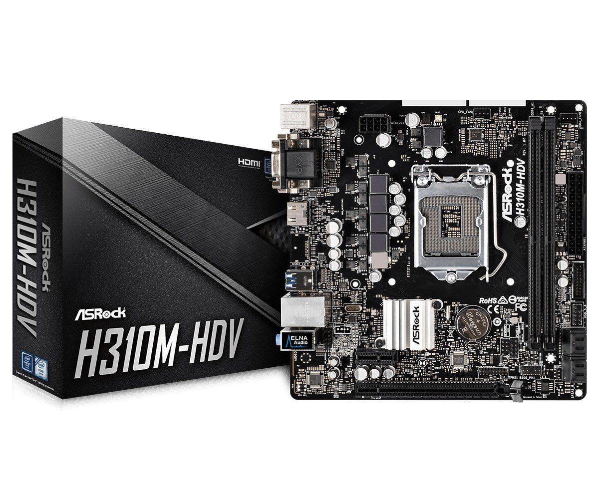 Placa Mãe ASRock H310M HDV LGA 1151 DDR4 USB 3.1