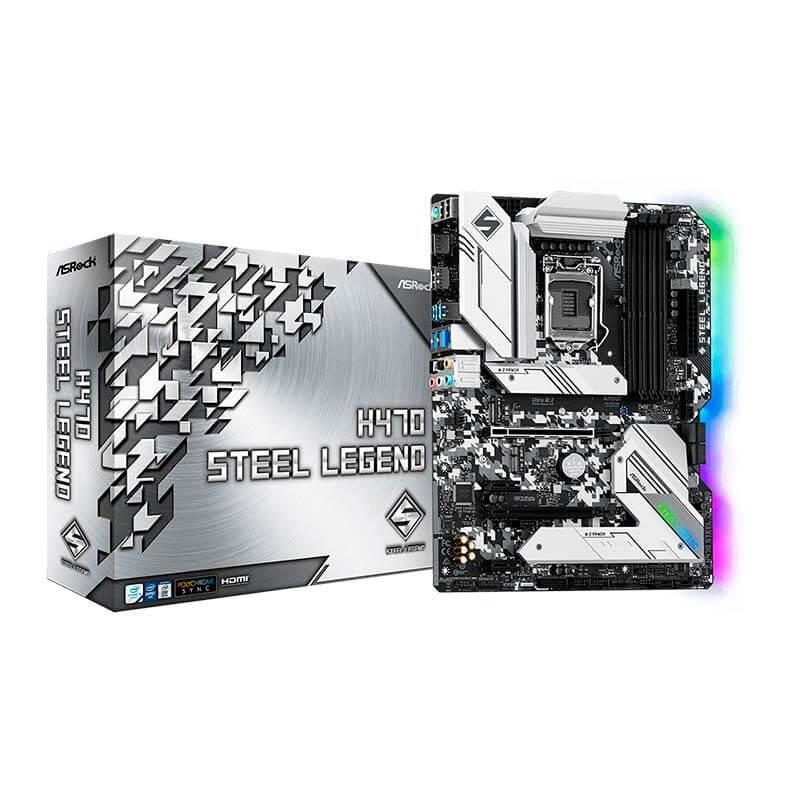 Placa Mãe ASRock H470 Steel Legend Chipset H470 Intel lga 1200 mATX DDR4