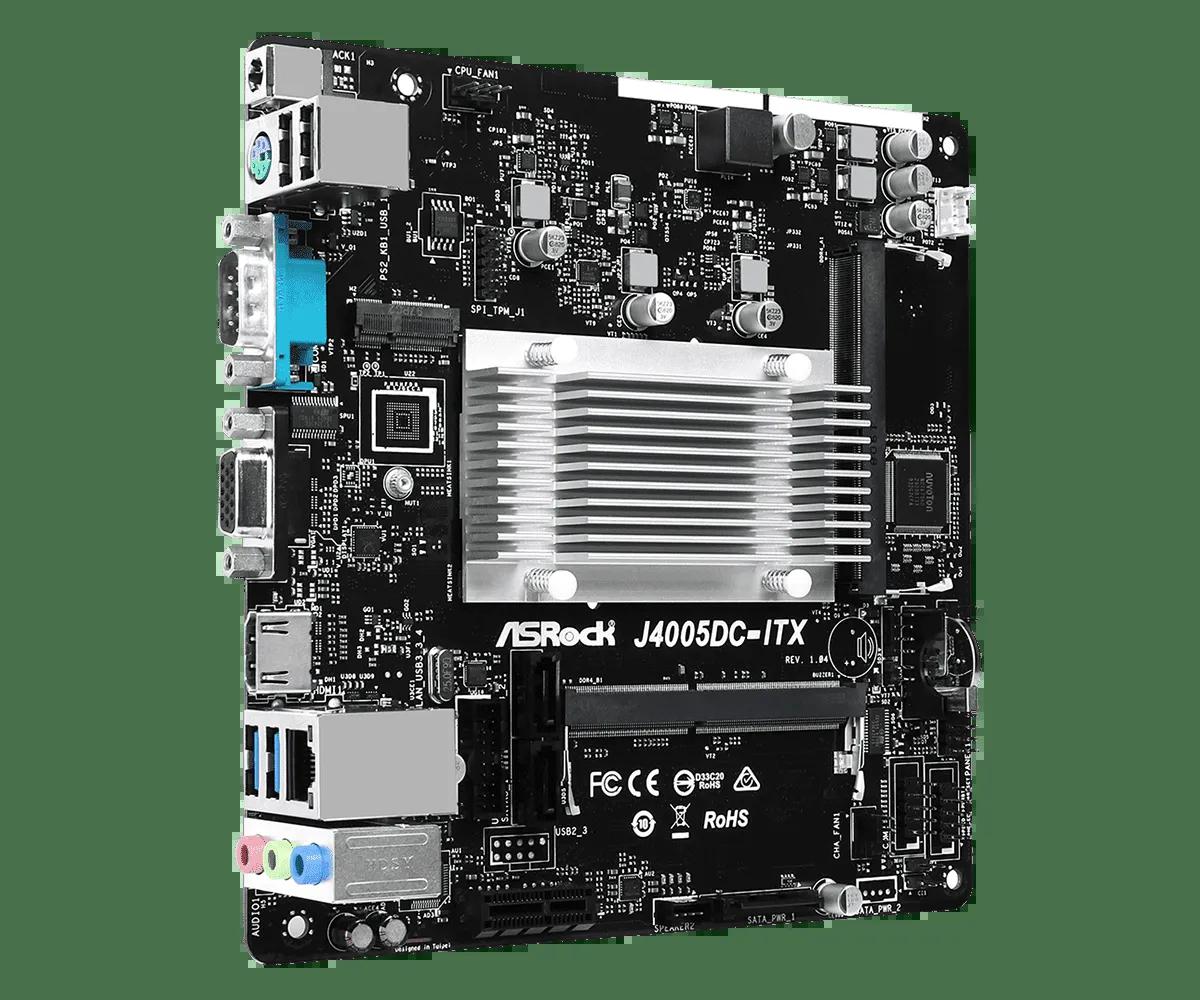 Placa mãe Asrock J4005DC ITX C/ Processador DDR4 HDMI