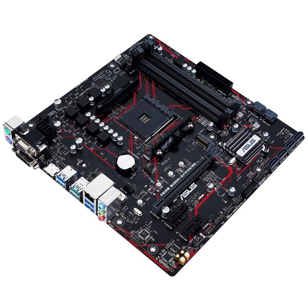 Placa mãe Asus B450M Gaming BR, Chipset B450 AMD AM4 mATX, DDR4