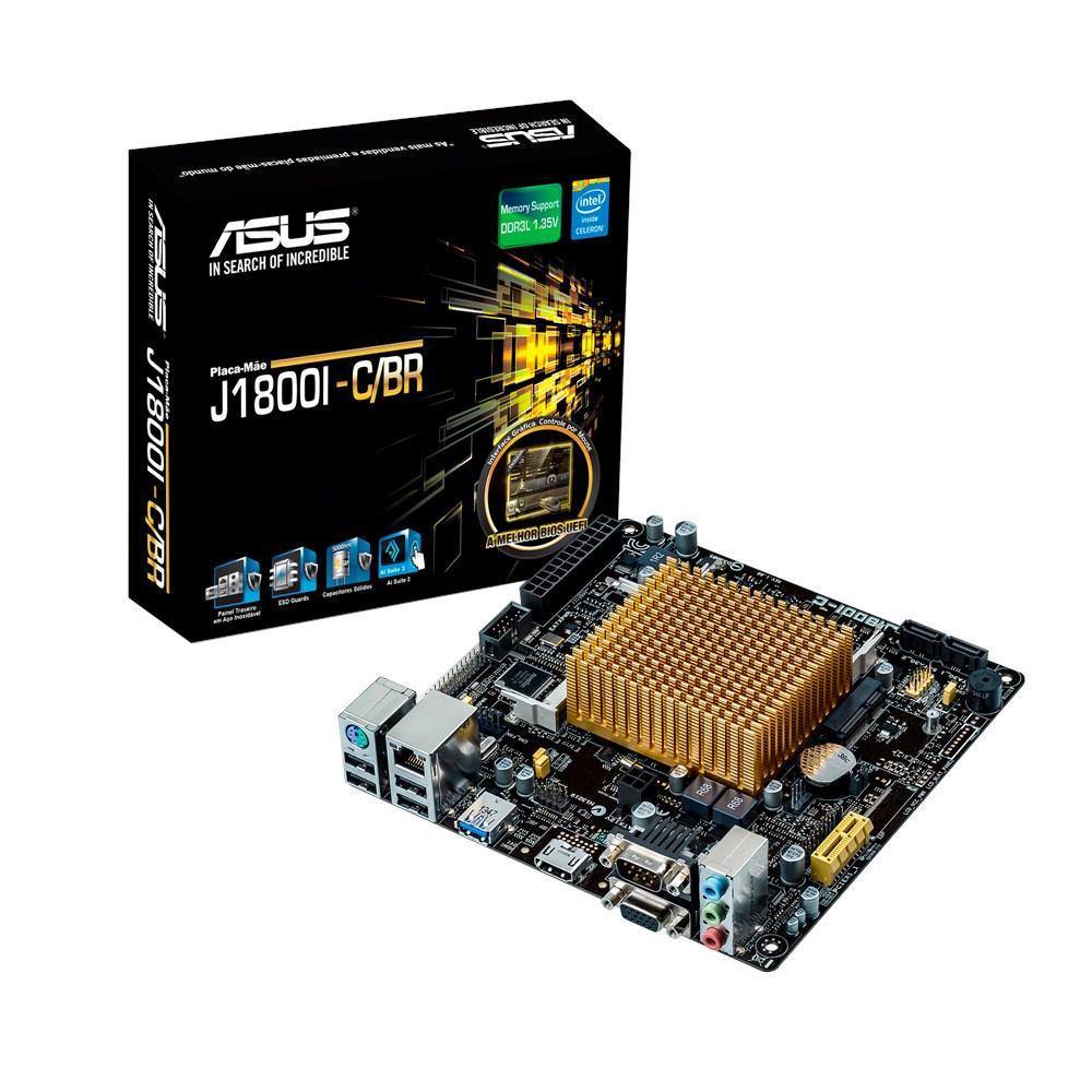 Placa Mãe ASUS J1800I-C/BR Processador Celeron Dual Core J1800 Mini ITX
