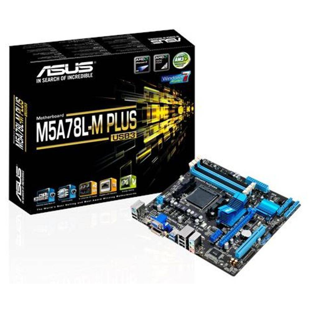 Placa Mãe Asus M5A78L Plus/USB3, Socket AMD AM3+, Chipset 760G