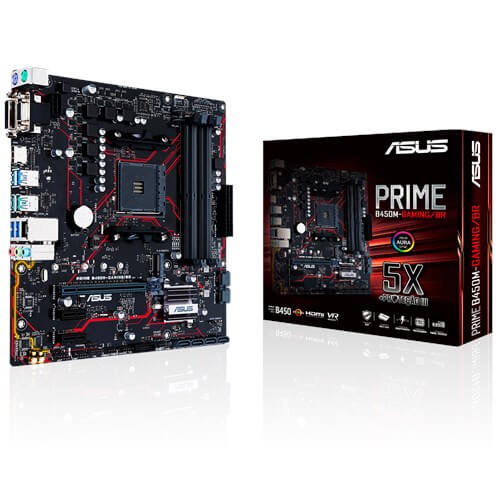 Placa mãe Asus Prime B450M Gaming BR DDR4 AM4 Chip B450