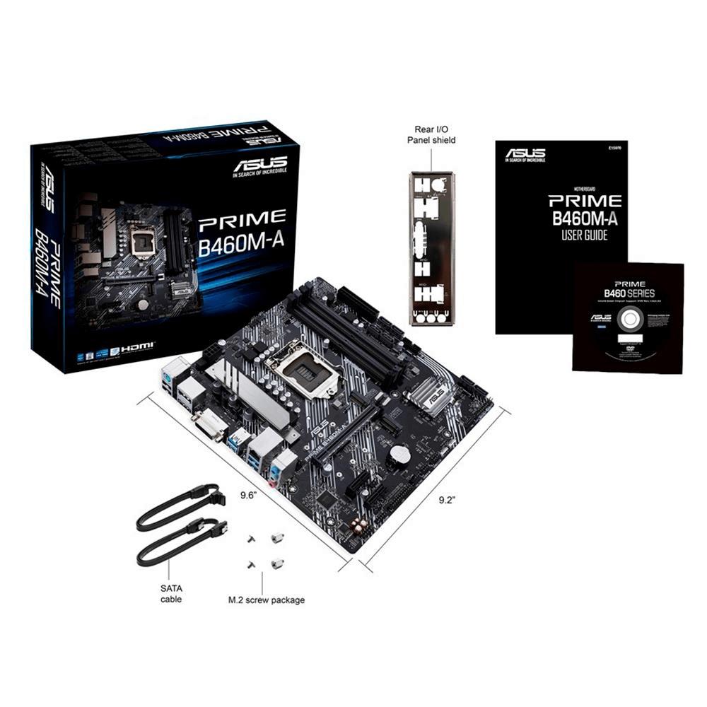 Placa mãe Asus Prime B460M-A LGA1200 mATX DDR4 P/ 10ªG