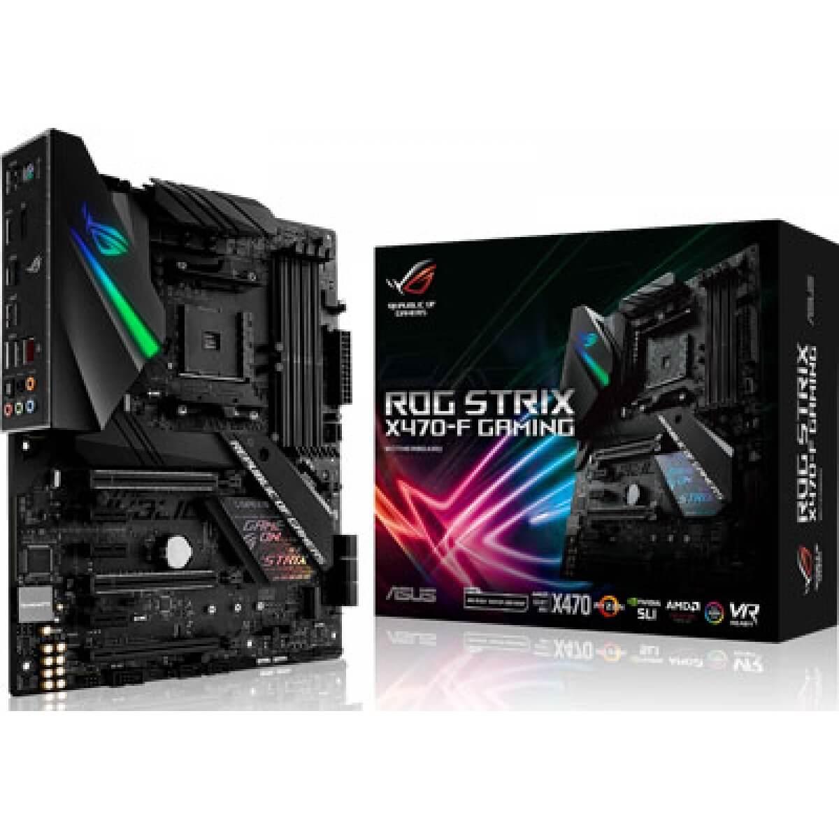 Placa mãe Asus Rog Strix X470-F Gaming DDR4 AMD AM4
