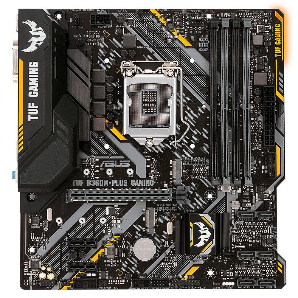 Placa mãe Asus Tuf B360M Plus Gaming BR DDR4 LGA 1151 B360