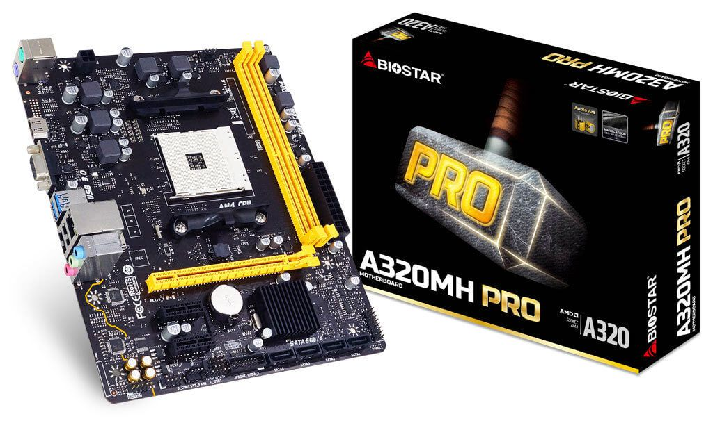 Placa Mãe Biostar A320MH Pro Socket AM4 Chipset AMD A320 DDR4