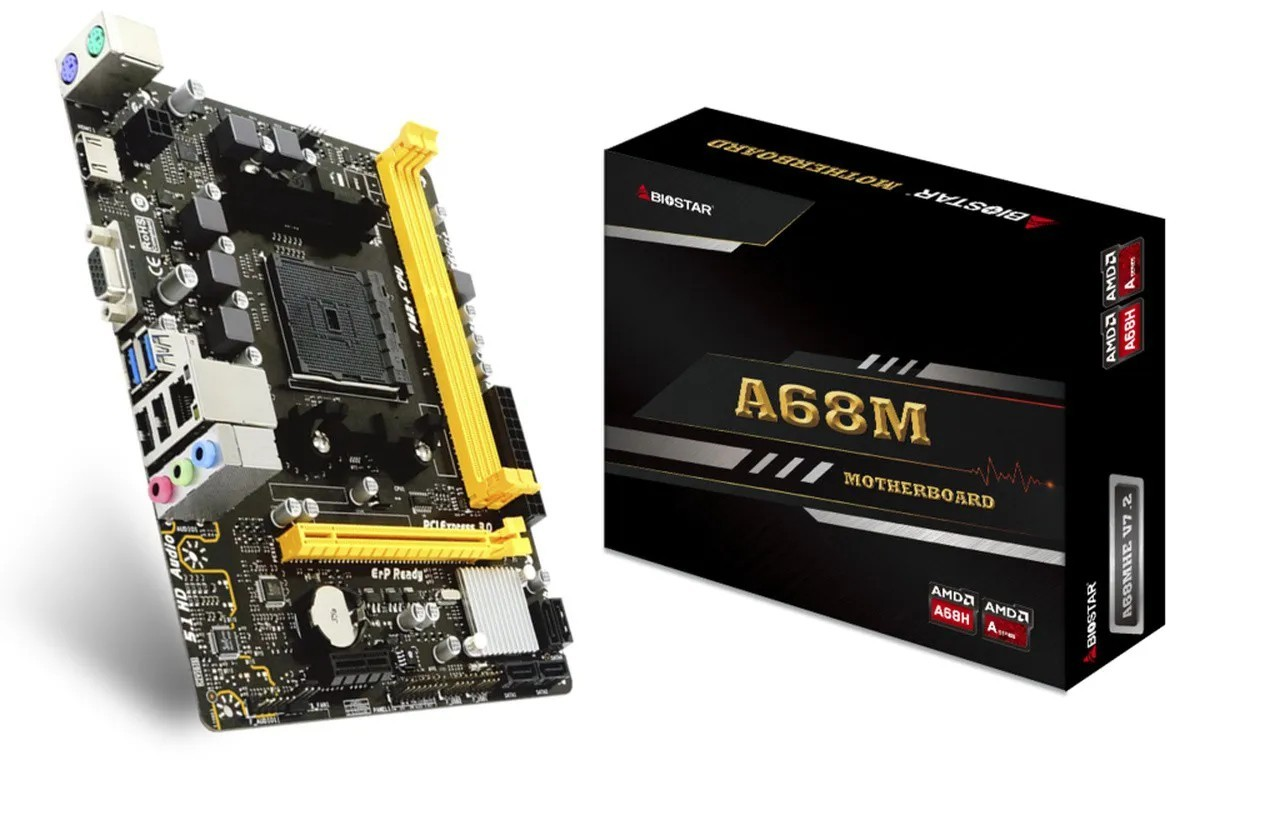 Placa mãe Biostar A68MHE DDR3 FM2+ USB 3.1