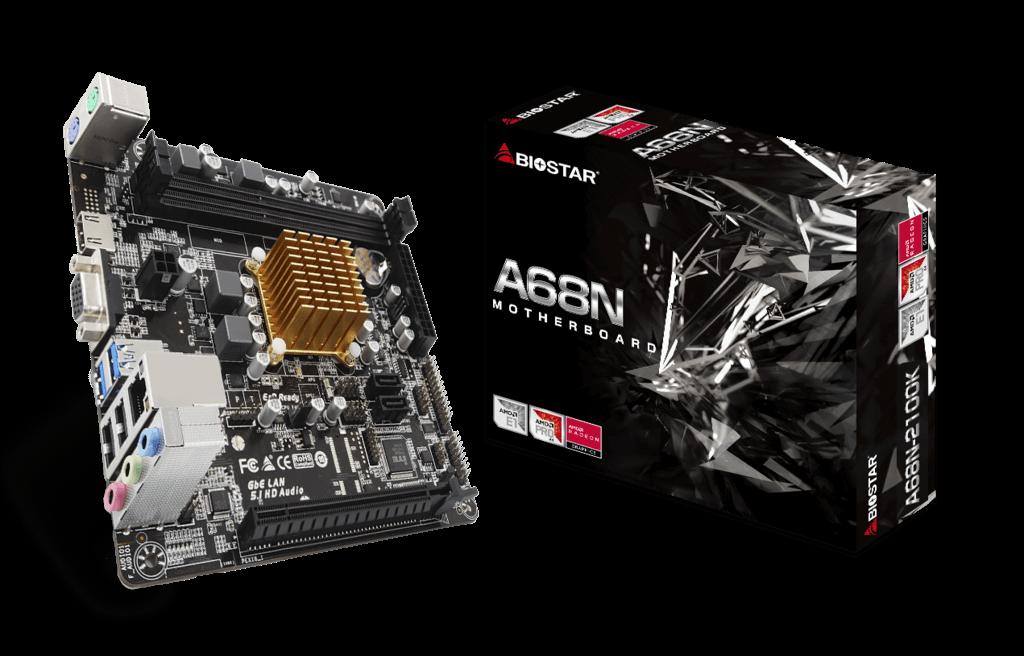 Placa mãe Biostar A68N 2100K + Processador AMD HDMI DDR3