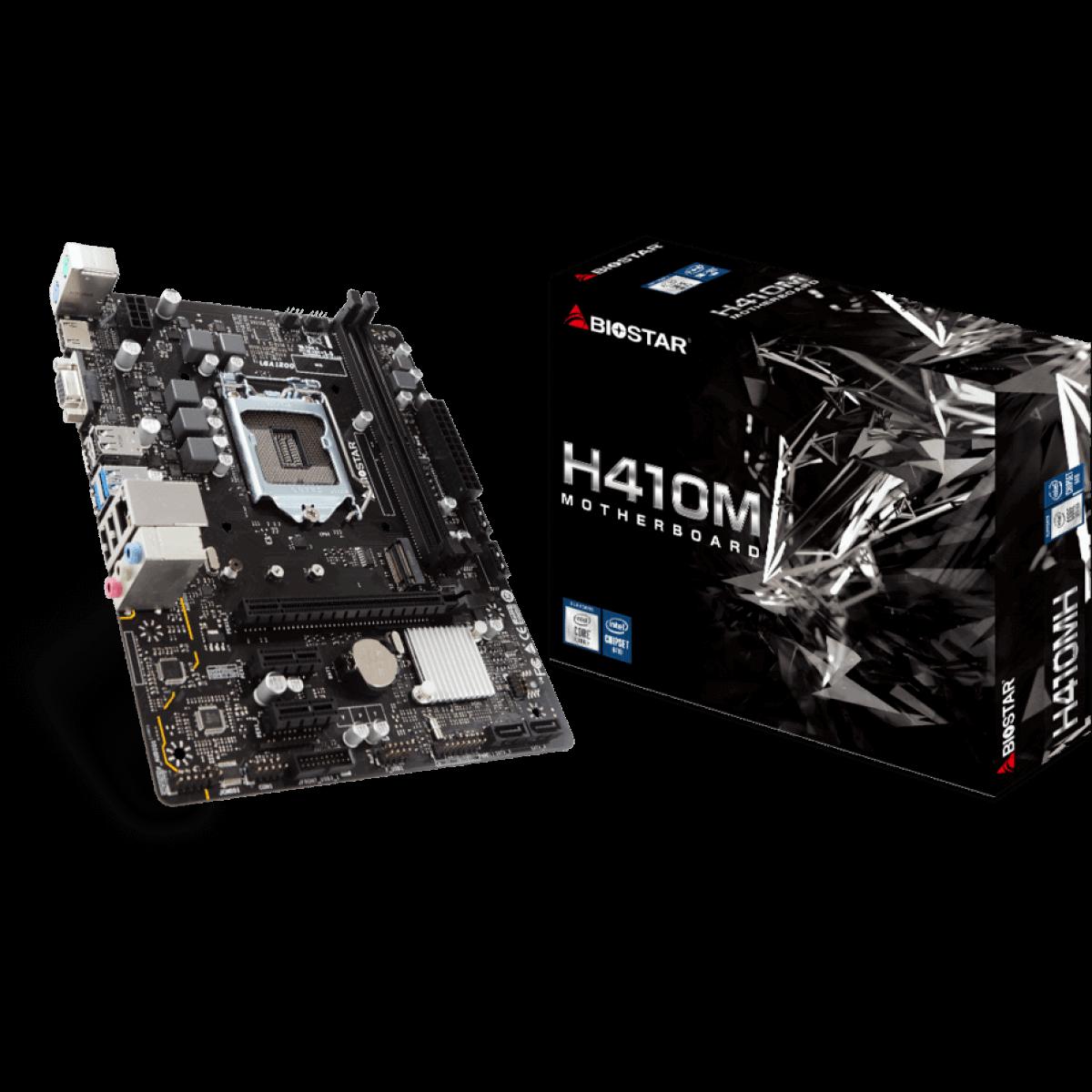 Placa Mãe Biostar H410MH VER 6.0 Chipset H410 Intel 1200 mATX DDR4