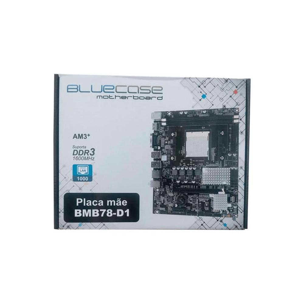 Placa-mãe Bluecase BMB78-D1 BOX DDR3 AM3+ Chipset AMD 760G mATX