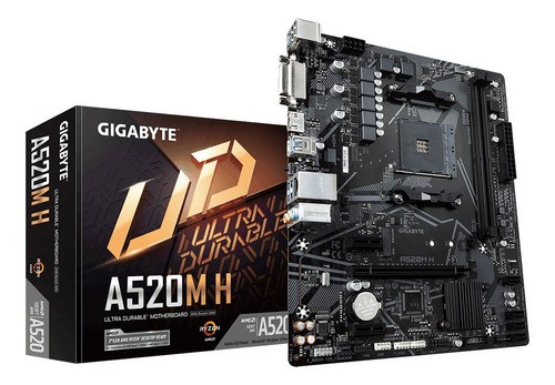 Placa mãe Gigabyte A520M H AM4 DDR4 A520