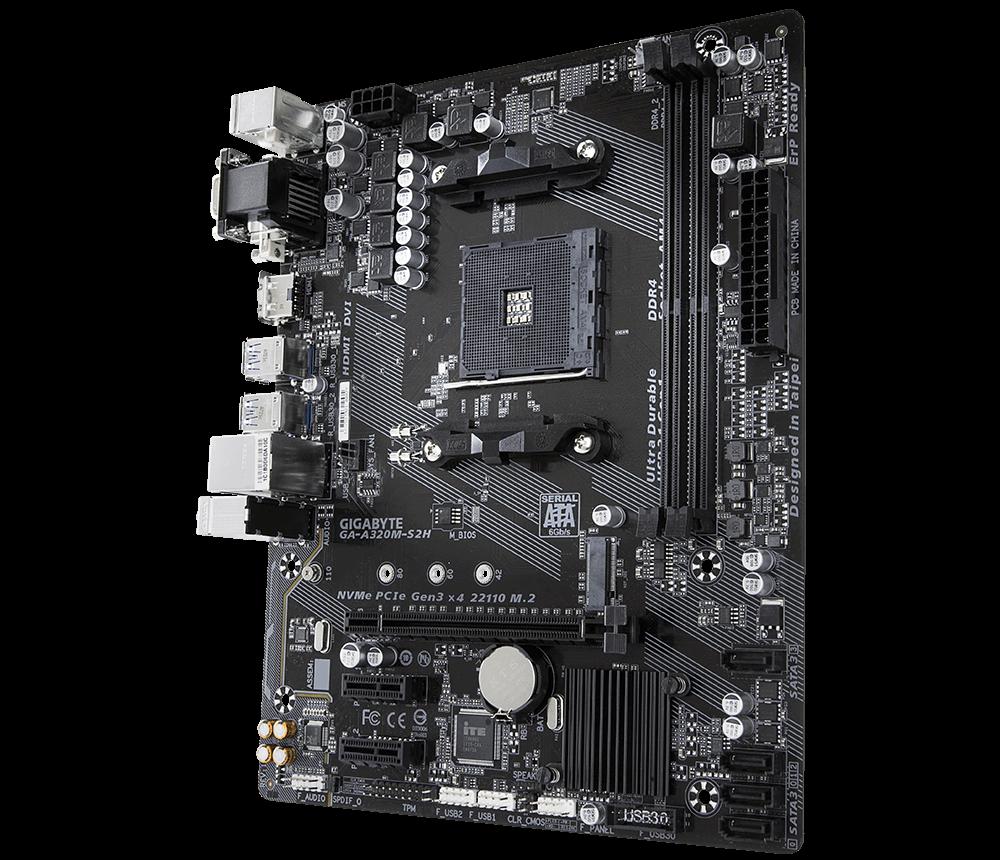 Placa mãe Gigabyte AMD AM4 A320M GA-A320M-S2H mATX, DDR4
