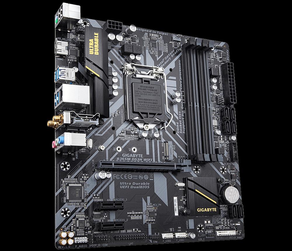 Placa mãe Gigabyte B365M DS3H WIFI DDR4 Socket AM4 M.2