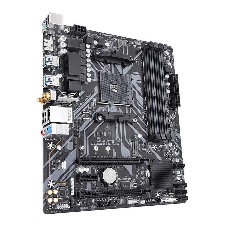 Placa mãe Gigabyte B450M DS3H WIFI Chipset B450 AMD AM4 DDR4