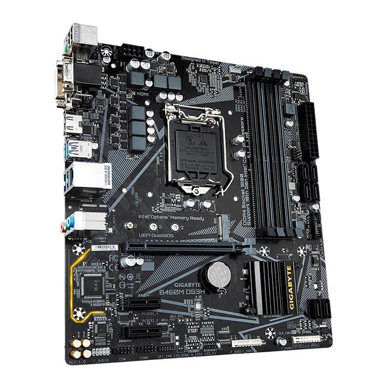 Placa mãe Gigabyte B460M DS3H B460 Intel LGA 1200 DDR4 mATX