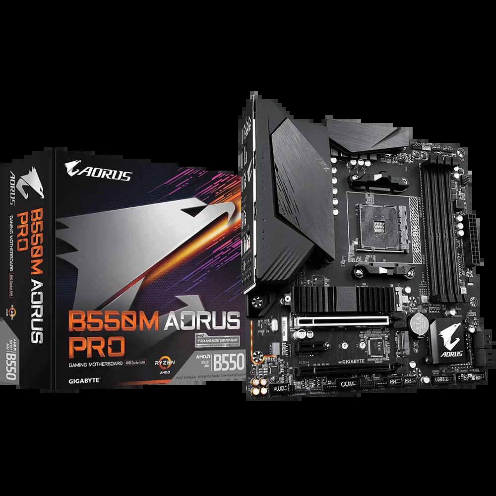 Placa mãe Gigabyte B550M Aorus Elite DDR4 AM4 Micro Atx Pcie 4.0