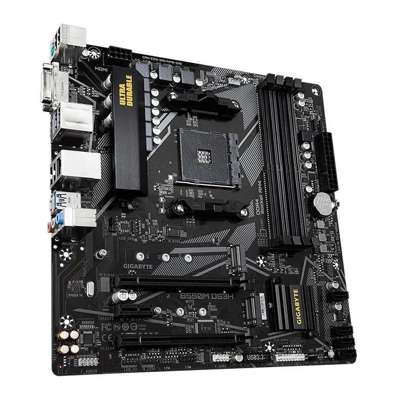 Placa mãe Gigabyte B550M DS3H Chipset B550 AMD AM4 mATX DDR4