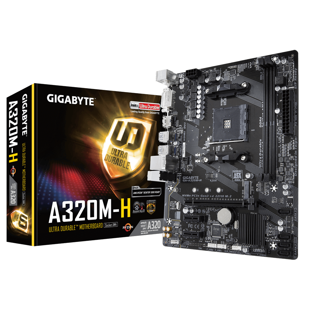 Placa Mãe Gigabyte GA A320M H Chipset A320 H DDR4 HDMI am4