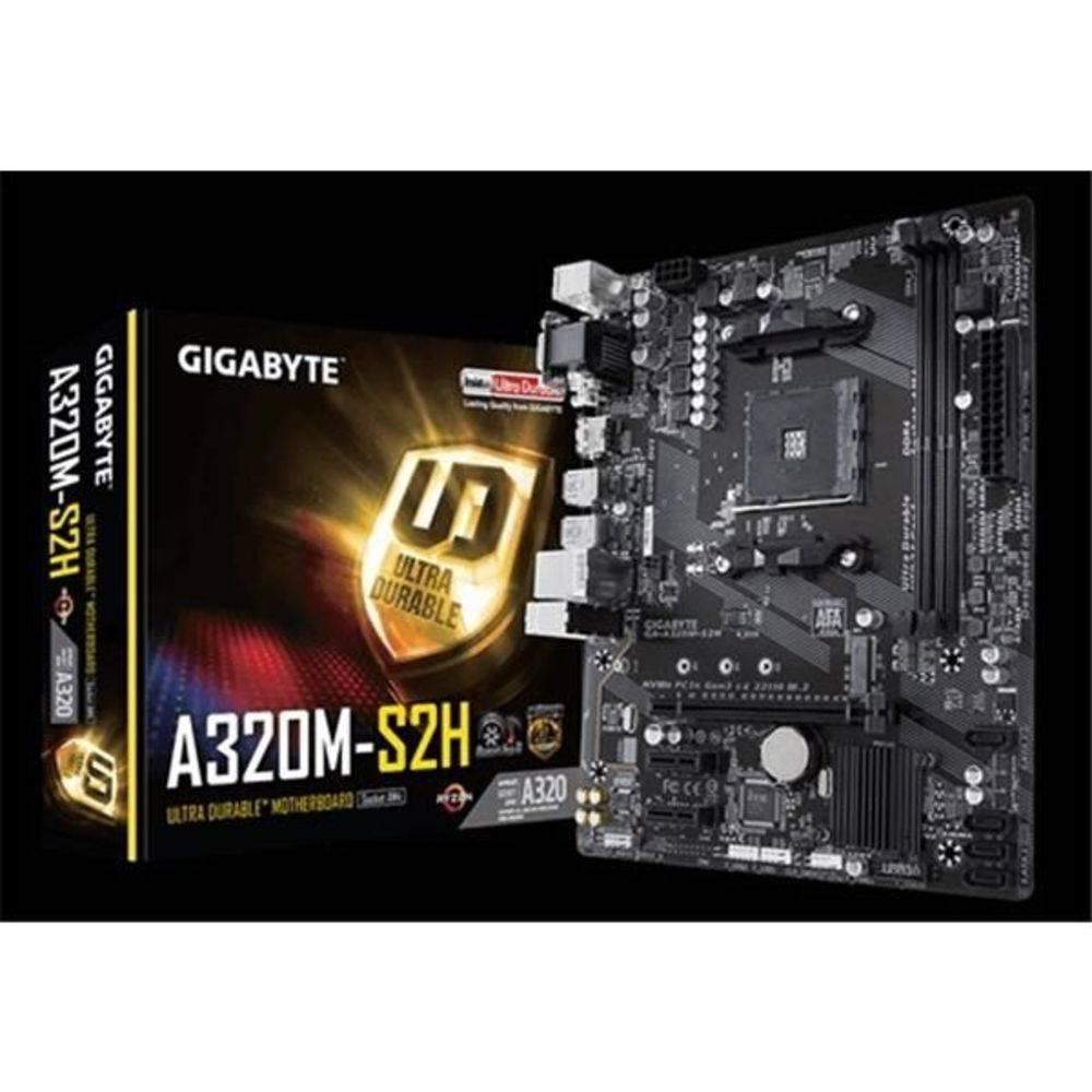 Placa Mãe Gigabyte GA A320M S2H Chipset AMD A320 DDR4