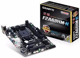 Placa Mãe Gigabyte GA F2A68HM H FM2+/FM2 4K USB 3.0