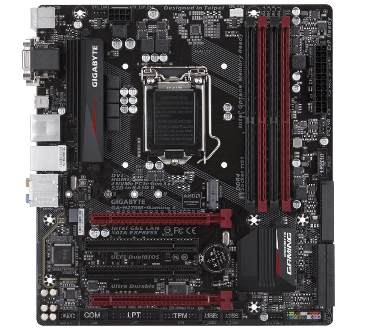 Placa Mãe Gigabyte Ga-H270M-GAMING 3 Chipset H270 DDR4