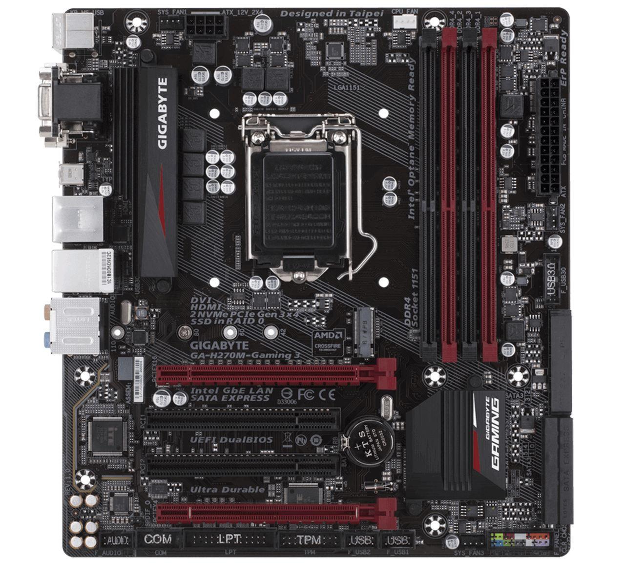Placa Mãe Gigabyte Ga-H270M-GAMING 3 Chipset H270 DDR4