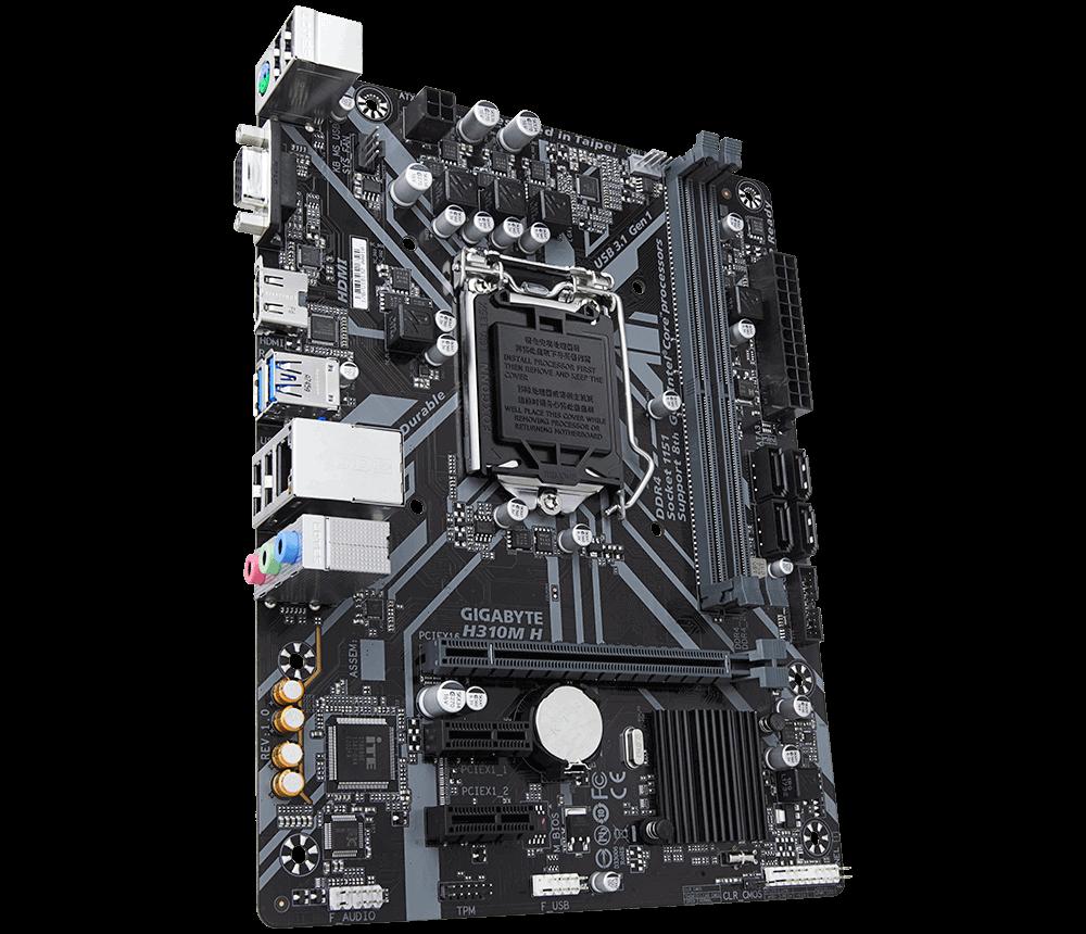 Placa mãe Gigabyte H310M H LGA 1151 Intel mATX