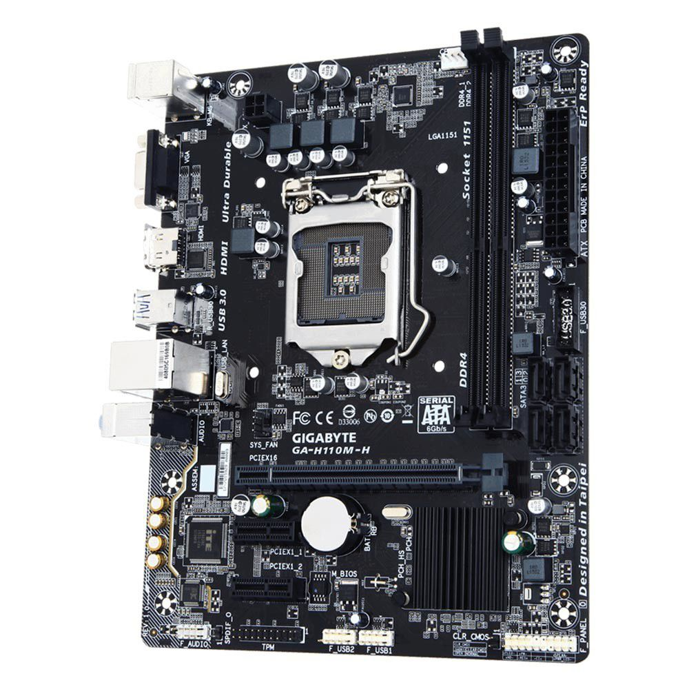 Placa Mãe GIGABYTE p/ Intel LGA 1151 mATX GA-H110M-H DDR4