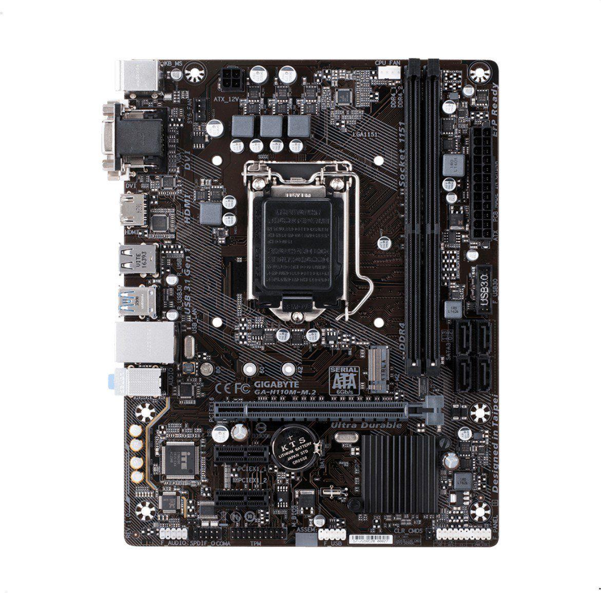 Placa Mãe GIGABYTE p/ Intel LGA 1151 mATX GA-H110M-M.2 DDR4
