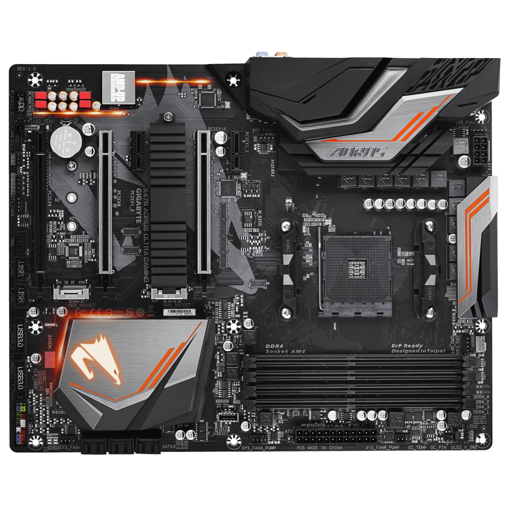 Placa Mãe Gigabyte X470 AORUS Ultra Gaming AM4 DDR4 (rev. 1.0)