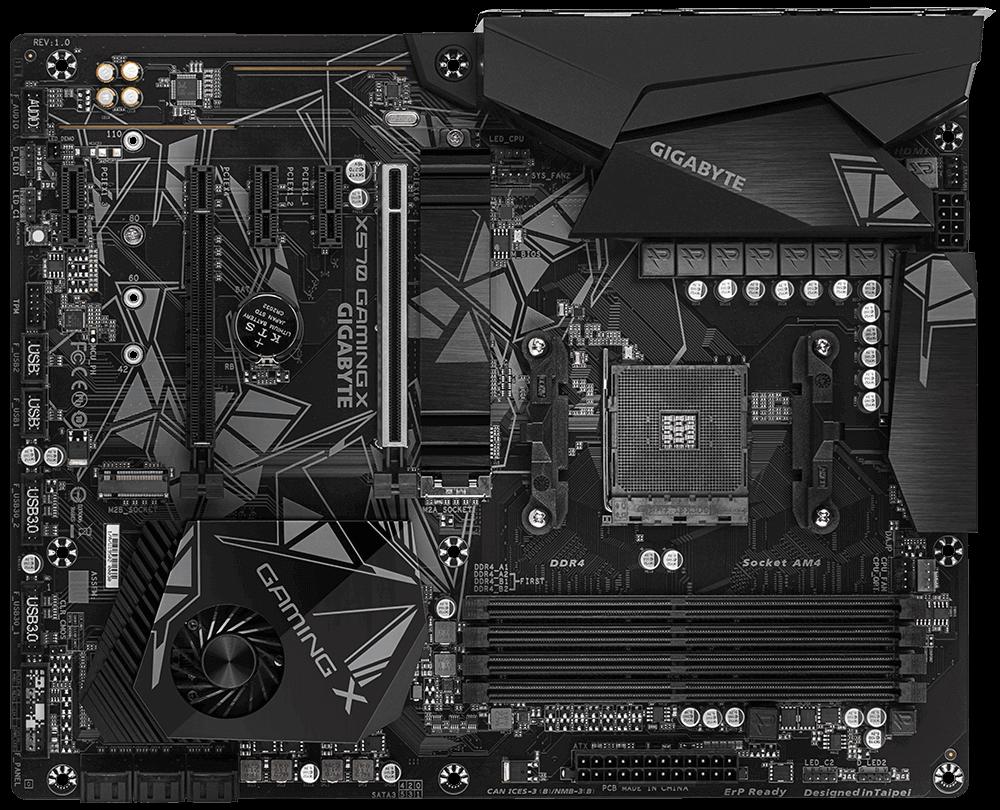 Placa mãe Gigabyte X570 GAMING X, Chipset X570, Amd Am4, ATX, DDR4