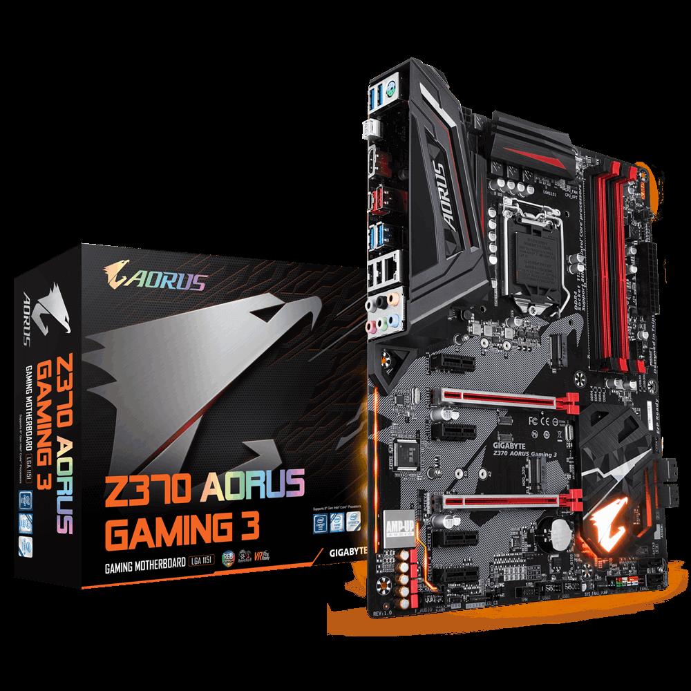 Placa Mãe GIGABYTE Z370 Aorus GAMING 3 Intel LGA 1151 ATX DDR4