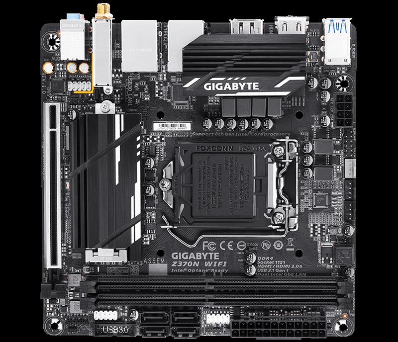 Placa Mãe Gigabyte Z370N Wifi INTEL LGA 1151 Mini ITX  DDR4
