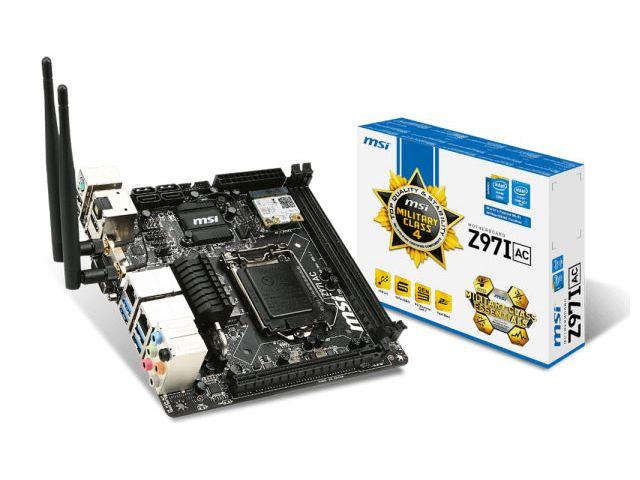 Placa Mae LGA 1150 INTEL MSI Z97I AC Mini ITX DDR3 Wifi