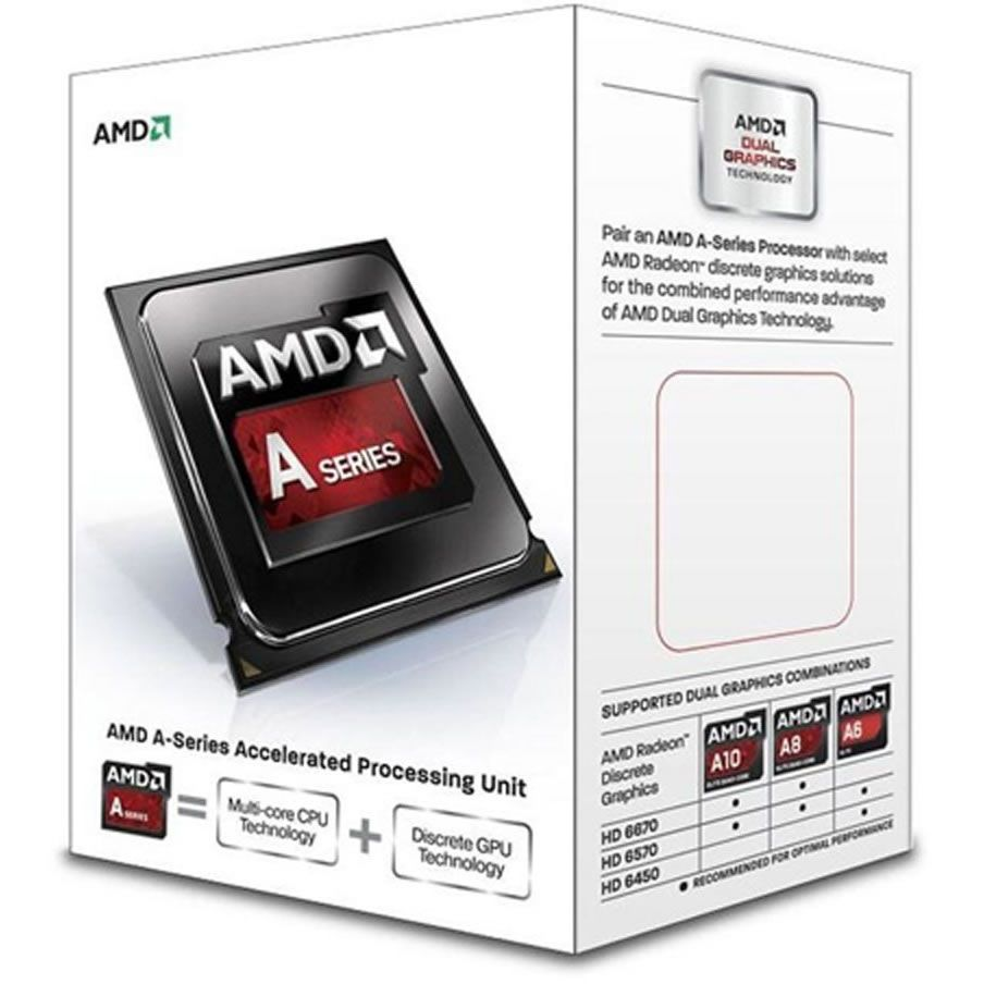 Processador A4 6300 AMD 3.7GHZ 1MB Cache Socket FM2 - AD6300OKHLBOX