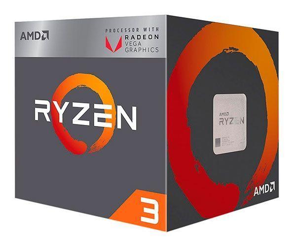 Processador AMD Ryzen 3 2200G Quad Core 3,5Ghz 3,7Ghz Turbo 6MB Cache AM4